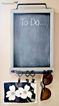 Chalk Board Message Center by Homeroad on Etsy, $25.00