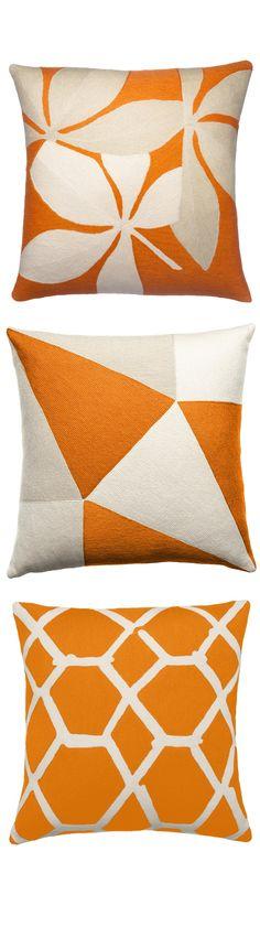 """""""orange pillows"""" """"orange throw pillows"""" """"orange modern pillows"""" By…"""