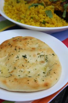 Simple Naan Bread by Deals to Meals--this bread couldn't be easier to make! The sour cream in the dough makes this dough soft, spongy and cooks in just 3 minutes. It's super fast and easy to make! A great staple, food storage recipe you will want to make over and over again ;)