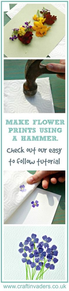 Learn how to make flower prints using a hammer, it works with leaves too!