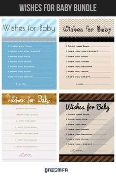 Printable Baby Wishes Card  Navy Baby Shower Games.  by ONESMFA, $6.00