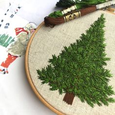 I have experimented with the new threads…that's a consequence. Newborn tree « uncooked On Diy Embroidery Patterns, Creative Embroidery, Embroidery Hoop Art, Ribbon Embroidery, Cross Stitch Embroidery, Sewing Stitches, Christmas Embroidery, Brazilian Embroidery, Bunt