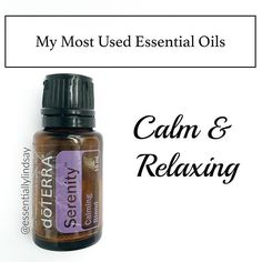 Welcome to Day 1 of My Most Used Essential Oils! First up is one my daily favorites - Serenity. >I use my DIY rollerball every night on the bottom of my feet and my littles feet to help relax and set us up for a restful nights sleep. >I also love to diffuse this right before bed to help my family relax and calm any tension from the day. Or during the day I love to diffuse with a few drops of wild orange to reduce any stressful feelings and to give me a boost. >When I'm able to take a few…