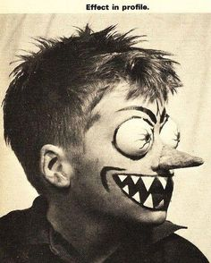 60's ed roth style kid's monster makeup.