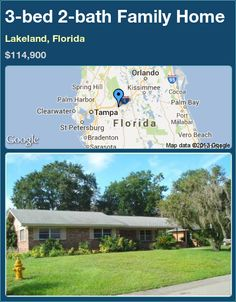 3-bed 2-bath Family Home in Lakeland, Florida ►$114,900 #PropertyForSale #RealEstate #Florida http://florida-magic.com/properties/15191-family-home-for-sale-in-lakeland-florida-with-3-bedroom-2-bathroom