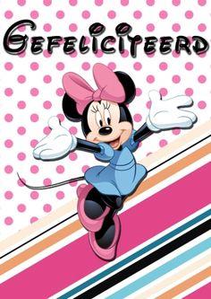 Minnie Mouse gefeliciteerd (Kaartland wenskaarten)