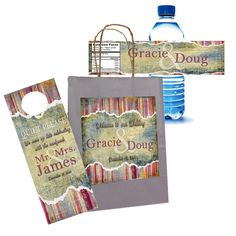 Custom Rustic Earth Tone Designed Wedding Welcome Bag Sets $70 for 20 sets by 4WeddingWelcomeBags