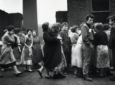 Jane Bown: a life in photography – in pictures. Rochdale Voters from a cotton mill wait to be addressed by one of the candidates. Female Photographers, Street Photographers, Portrait Photographers, Jane Bown, Rochdale, Picture Editor, Women In History, The Guardian, Wedding Portraits