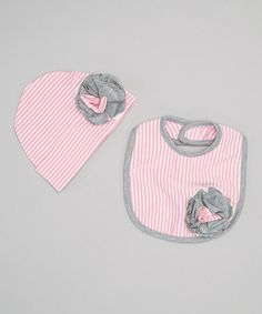 Take a look at this Prima Ballerina Flower Beanie & Bib by Itty Bitty & Pretty on #zulily today!