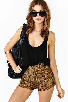 Deep Jungle Shorts from Nasty Gal