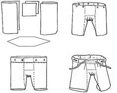 medieval men's pants w/ gusset