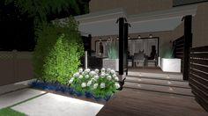 3d Landscape, Landscape Designs, Privacy Panels, Fence Panels, Birds Eye View, Landscapes, Planters, Bloom, Garden