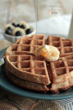 Soaked Gluten Free Oat Waffles