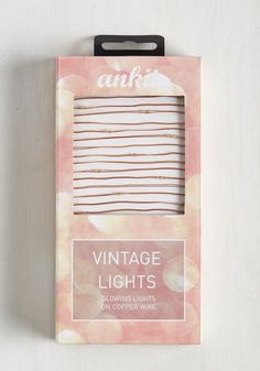 Tiny Twinklings String Lights. Add a touch of twinkle to every room in your flat with these dainty string lights! #copper #wedding #modcloth