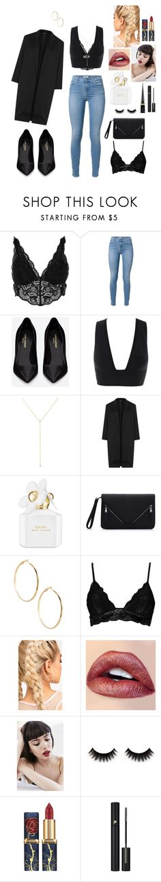 """""""Watch"""" by carolinerosel ❤ liked on Polyvore featuring River Island, Yves Saint Laurent, ZoÃ« Chicco, Topshop, Marc Jacobs, GUESS by Marciano, Boohoo, Obsessive Compulsive Cosmetics, Lancôme and Christian Louboutin"""