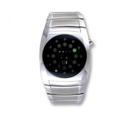01 The One Lightmare Men's Stainless Binary Watch - Black Dial - Green Led - Led Watch, Renaissance Men, Green Led, Telling Time, Metal Bands, Cool Watches, The One, Smart Watch, Cool Stuff