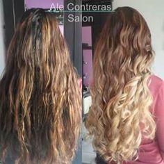 Before and after hair Antes y depues en cabello correcion de color con un degradado