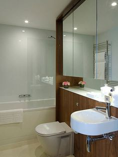The Penthouse, Newman St Pent House, Open Plan, Corner Bathtub, Mirror, Bathroom, Objects, Journal, Furniture, Home Decor