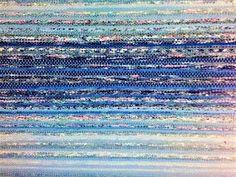 Luovat kädet: Kiikkalainen räsymatto Weaving Art, Recycled Fabric, Woven Rug, Color Inspiration, Rag Rugs, Colour, Rug Weaves, Color, Knit Rug