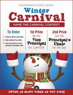Clear Meadow School Council Presents name our carnival contest!