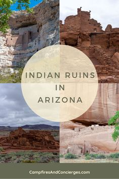 Do you love to visit historic sites when you travel? If you are visiting Arizona, save this pin so you can add these Indian Ruins to your Arizona itinerary. These sites are a fascinating glimpse of Native Indian history in Arizona Road Trip En Arizona, Arizona Travel, Places To Travel, Places To See, Travel Destinations, Bucket List Destinations, Travel Guides, Travel Tips, Travel Goals