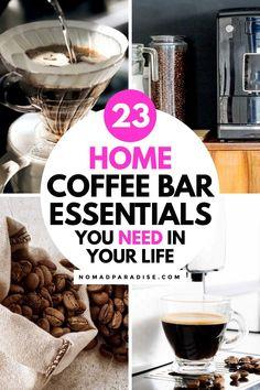 Coffee Bar Station, Home Coffee Stations, Coffee Bar Home, Coffee Shop, Coffee Tamper, Bar Set Up, Coffee Uses, Coffee Accessories, Coffee Tasting