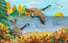 Plasticine illustrations (modeling clay artwork) by Olga Moskovka, via Behance