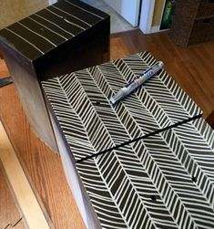 use a paint pen to add detail to a painted drawer