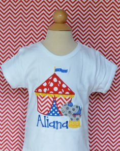 Personalized Birthday Circus Applique Shirt or Onesie Girl or Boy on Etsy, $30.00