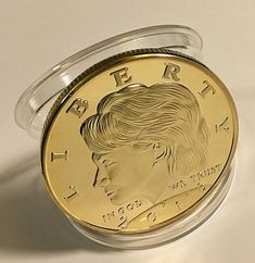 HILLARY CLINTON LIBERTY COIN in protective acrylic case FAST SHIPPING!!!! Gold Coins, Pocket Watch, Liberty, Mint, Personalized Items, Feminine, Accessories, Board