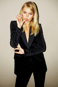 and Bleeker owns the velvet suit look Cowl Back Dress, Gucci Suit, Gucci Gucci, Orange Pink Color, Velvet Suit, Vogue, Taylor Dress, Matches Fashion, Black Suits