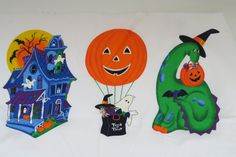 Halloween Applique Fabric by VIP Cranston - Pumpkins Witch Ghost Haunted House…