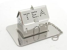 Stainless steel house shaped tea infuser with tray