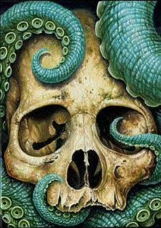 skull and octopus - Google Search