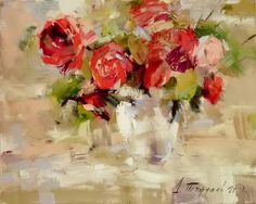 Dmitry Patrushev Was born in city Glazov in Has graduated Glazov's Art School in Was engaged in sculptor, painter, water-col. School Painting, Different Kinds Of Art, Still Life Flowers, Modern Impressionism, Acrylic Canvas, Arte Floral, Landscape Paintings, Flower Paintings, Painting Flowers