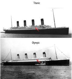 RMS Titanic vs RMS Olympic