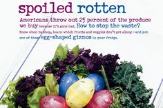 Perhaps you do it once a week. Perhaps only when you trace those sulfurous odors to your refrigerator's crisper drawers. But eventually, you toss out spoiled fruits and vegetables. Lots of them. Researchers at the University of Arizona recently spent a year tracking families' food-use habits. Working with the United States Department of Agriculture, they interviewed the families about their eating habits, collected their grocery receipts, watched them prepare meals, and then sifted th...