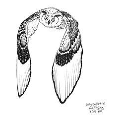 No.170 Owl Flying