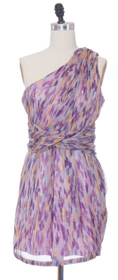 Trendy and Cute dresses - MM Couture - One Shoulder Color Swirl Dress - chloelovescharlie.com | $98.00