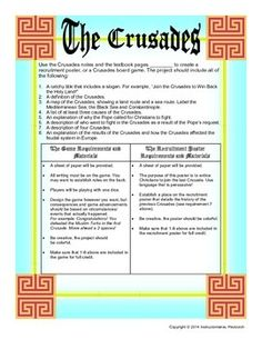 crusades worksheet and map activity activities student centered resources and colors. Black Bedroom Furniture Sets. Home Design Ideas
