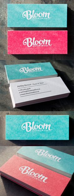 Great Hand Drawn Typography On A Letterpress Business Card