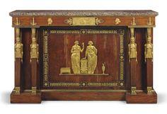 an empire ormolu-mounted mahogany side cabinet circa 1805 Furniture, Clock, Beautiful Furniture, Century Furniture, Rustic Cabinets, Luxury Furniture, Empire Furniture, Stylish Furniture, Side Cabinet