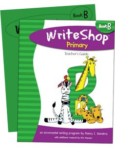 WriteShop Primary B Set (PRINT or ebook): Teacher's Guide and student Activity Pack. Homeschool curriculum for grades 1-2.
