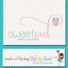 Custom Premade Photography Logo   Owl Logo by stylemesweetdesign, $40.00