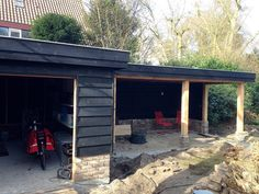Modern Backyard, Backyard Landscaping, Chicken Runs, Garden Buildings, Cladding, Pavilion, Outdoor Gardens, Pergola, Brick