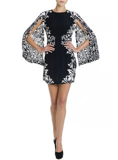 Shakuhachi  Burlesque Borders split sleeve dress  $249.00