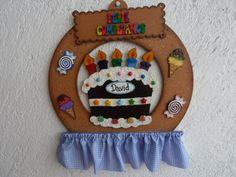 Corona para cumpleaños en MDF (MADEIRAS) macamno1@hotmail.com