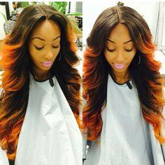 Orange curls