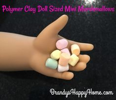 Polymer Clay Mini Marshmallows tutorial