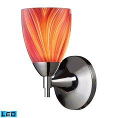 Celina 1 Light LED Sconce In Polished Chrome And Multi Glass 10150/1PC-M -LED